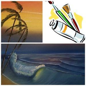 🌅 SEASCAPE OIL ON CANVAS - 16 x 20 🌅